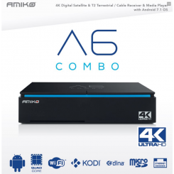 DVB-S2 / T2 / C satellite receiver Amiko A6 COMBO - HYBRID OTT (Android 7.1)
